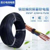 rvvp铜丝编织屏蔽软电缆